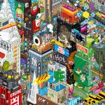 eBoy NYC Pixorama Poster