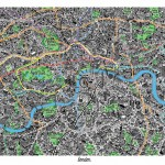 Hand-Drawn Map of London