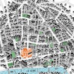 Hand Drawn Map of Le Marais area of Paris by Jenni Sparks